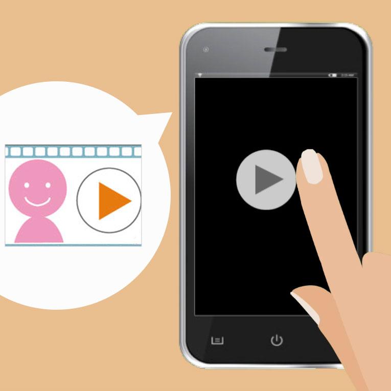 紹介動画、採用動画(トップメッセージ)をスマホサイトに掲載して印象アップ